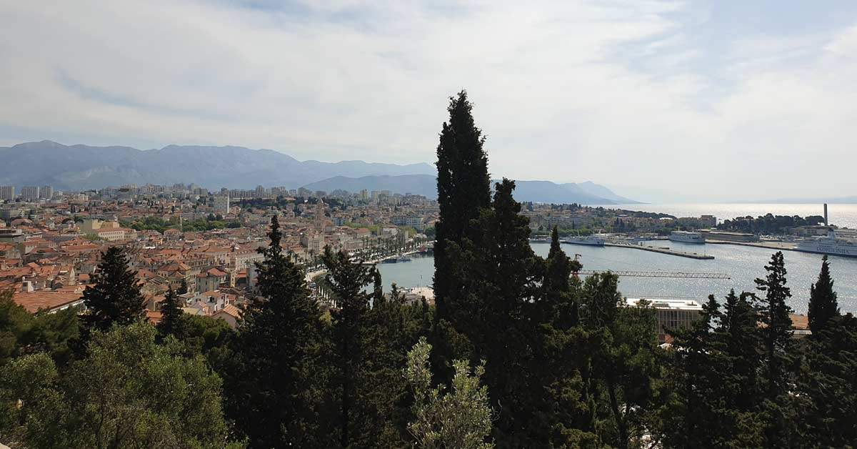 Scenic view in Split, Croatia