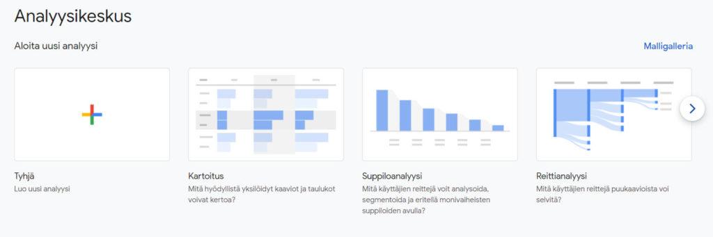 Uusi Analytics 4 tehokkaampi analysointi