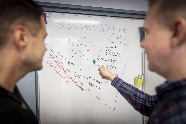 Hakukoneoptimointi Google markkinointi