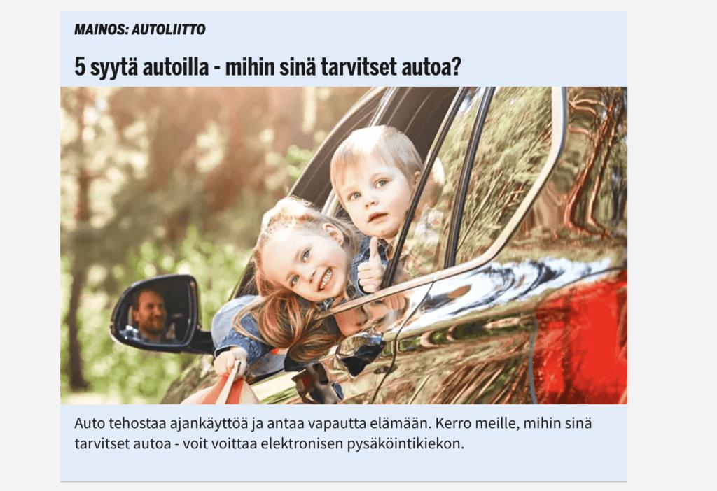 natiivimainonta is.fi sivustolla
